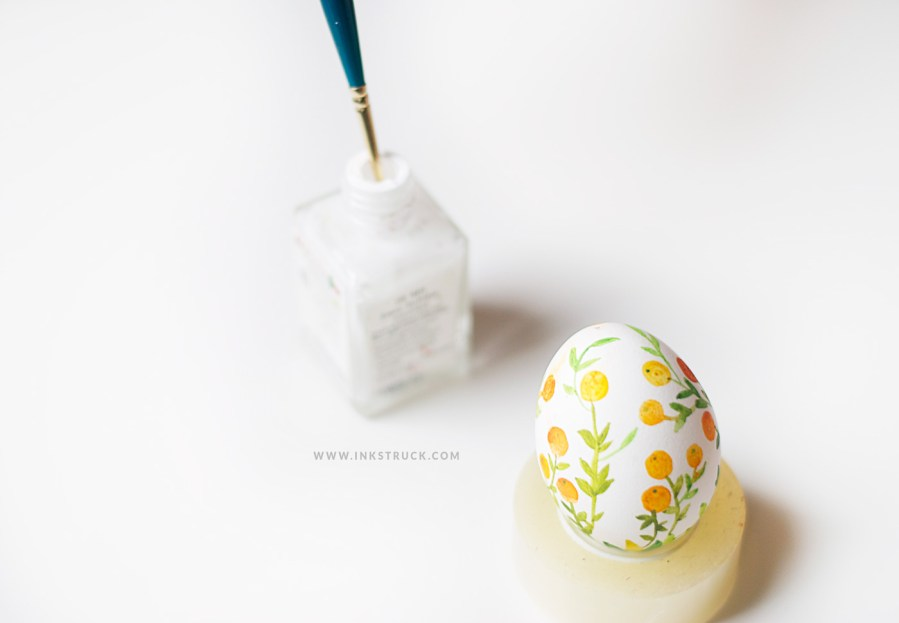 DIY watercolor easter egg by Inkstruck Studio