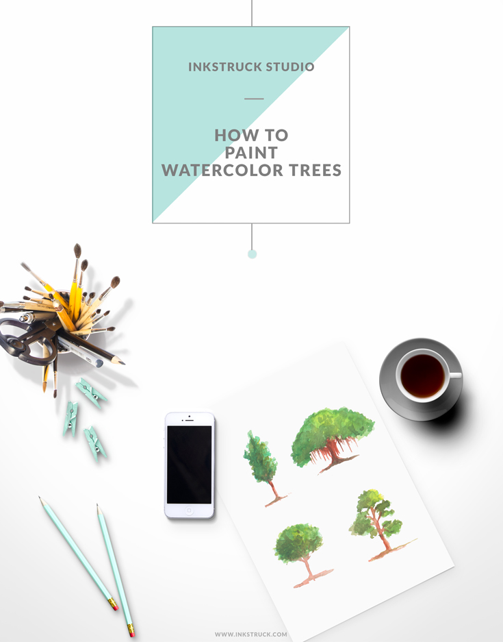 PAINT WATERCOLOR TREES