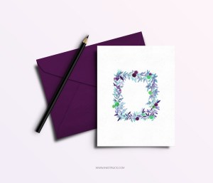 Download a free watercolor greeting card printable for any occasion or festival.This post also includes an exclusive Eid greeting card printable as well done by Zakkiya Hamza of Inkstruck Studio.