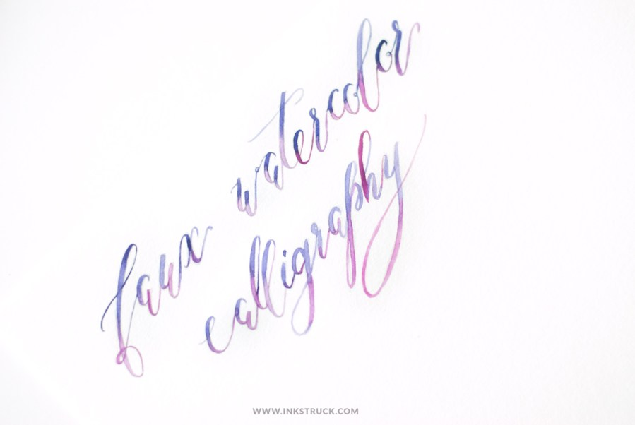 Learn how to create beautiful watercolor calligraphy in this tutorial by Zakkiya Hamza of Inkstruck Studio