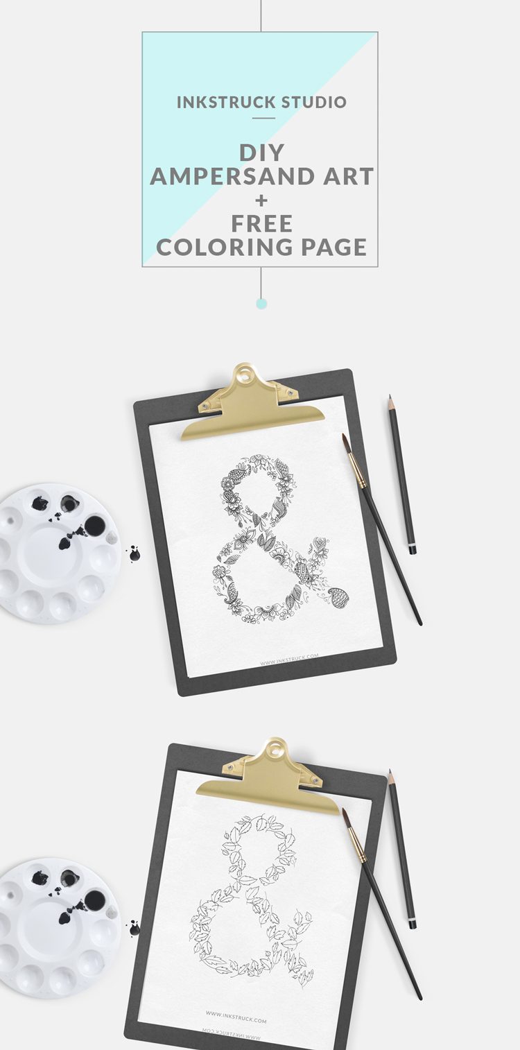 diy ampersand art inkstruck studio