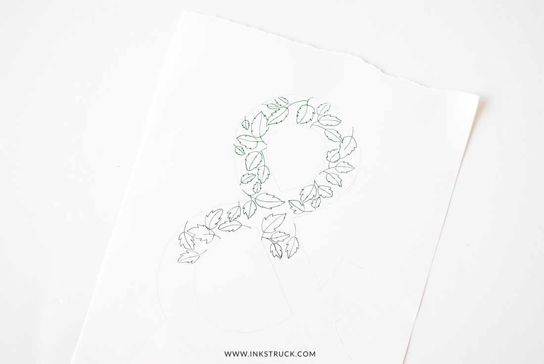 DIY AMPERSAND ART-Inkstruck Studio