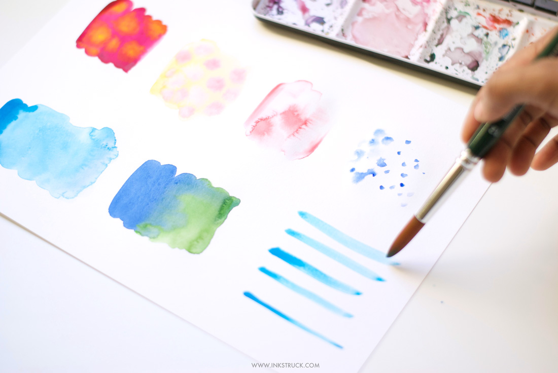 Watercolor techniques for beginners-Blending|Zakkiya Hamza of Inkstruck Studio