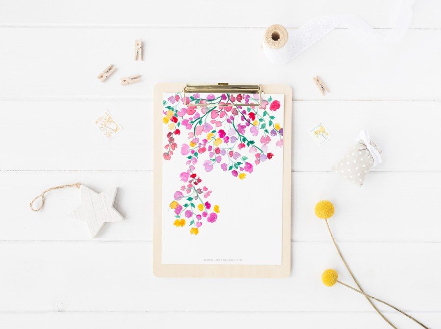 Free watercolor wallpapers,printables and more - www.inkstruck.com