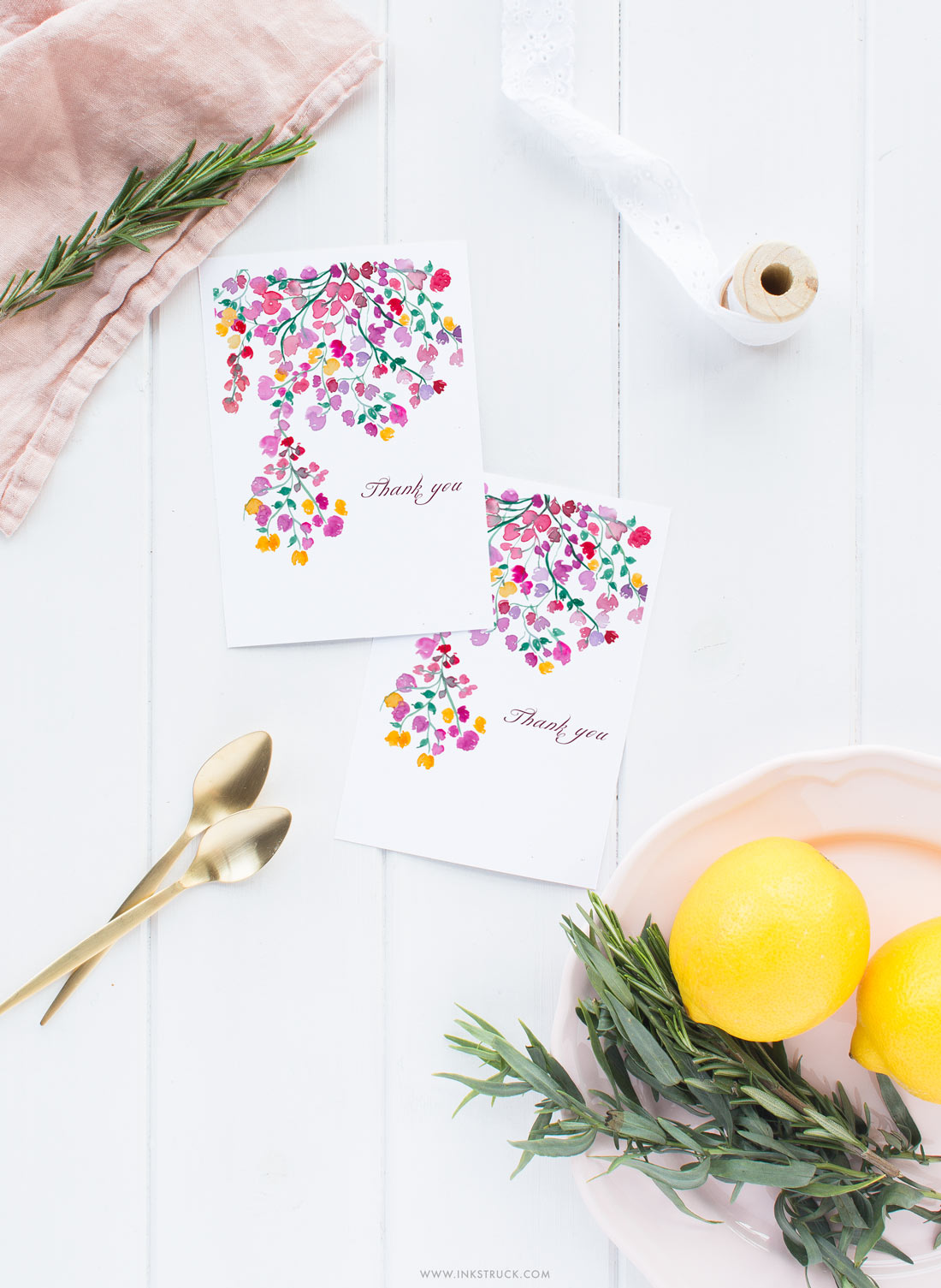 free watercolor floral printables inkstruck studio