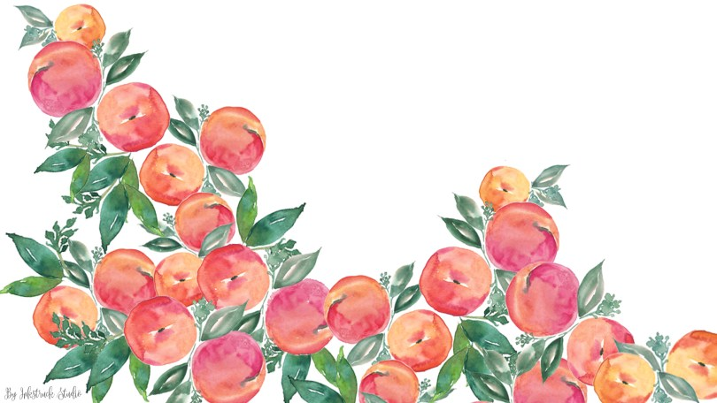 Download Free Watercolor Peach Wallpapers For DesktopiPhone And IPad