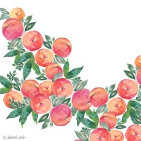 FREE WATERCOLOR PEACH WALLPAPERS