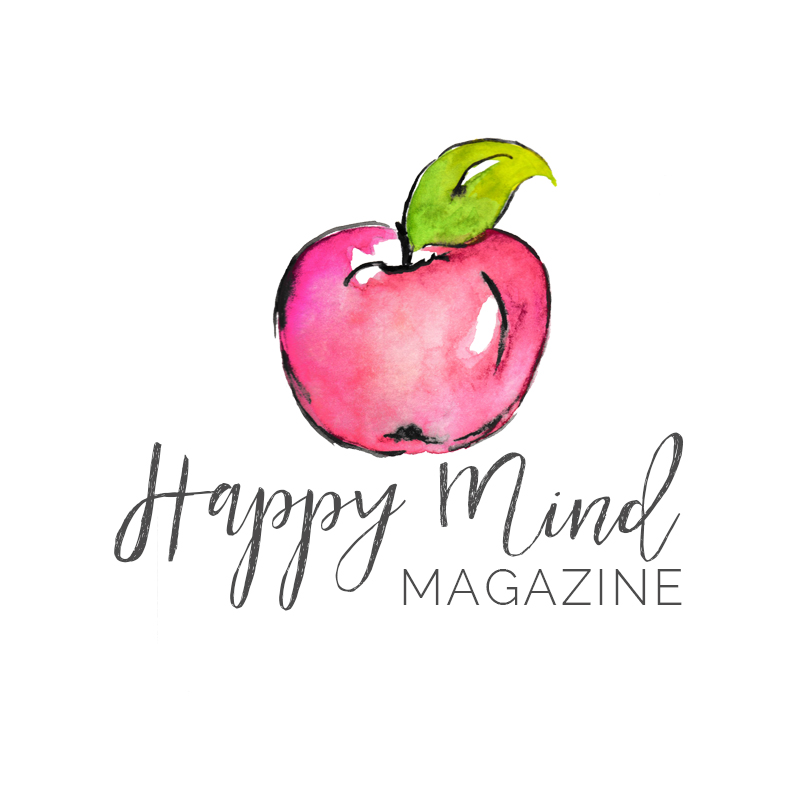 Happy mind magazine custom watercolor logo - www.inkstruck.com
