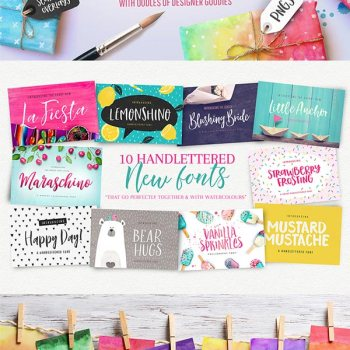 Awesome watercolor graphics included in this fabulous creative artistic bundle on Design Cuts | Inkstruck Studio