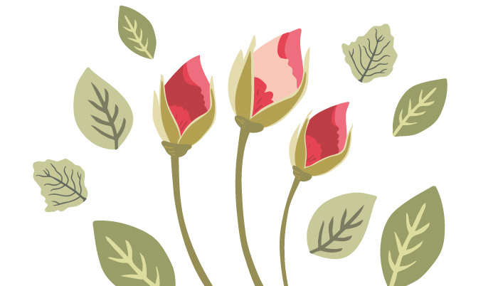 Learn to illustrate rose buds in Adobe Illustrator from this fabulous tutorial by Denise of Denise Anne Studio for Inkstruck Studio