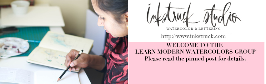Learn watercolors - A facebook group + Class - Inkstruck Studio