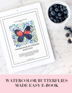 Watercolor butterflies e-book | Inkstruck Studio