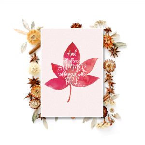 Love fall? And what if you get something free? Look no more because you can download my free watercolor fall lettering printable now - Inkstruck Studio