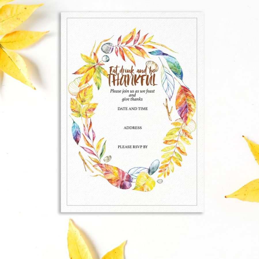 Download these free watercolor invitation templates for Thanksgiving to hand out to your loved ones. Click to see post and download - Inkstruck Studio
