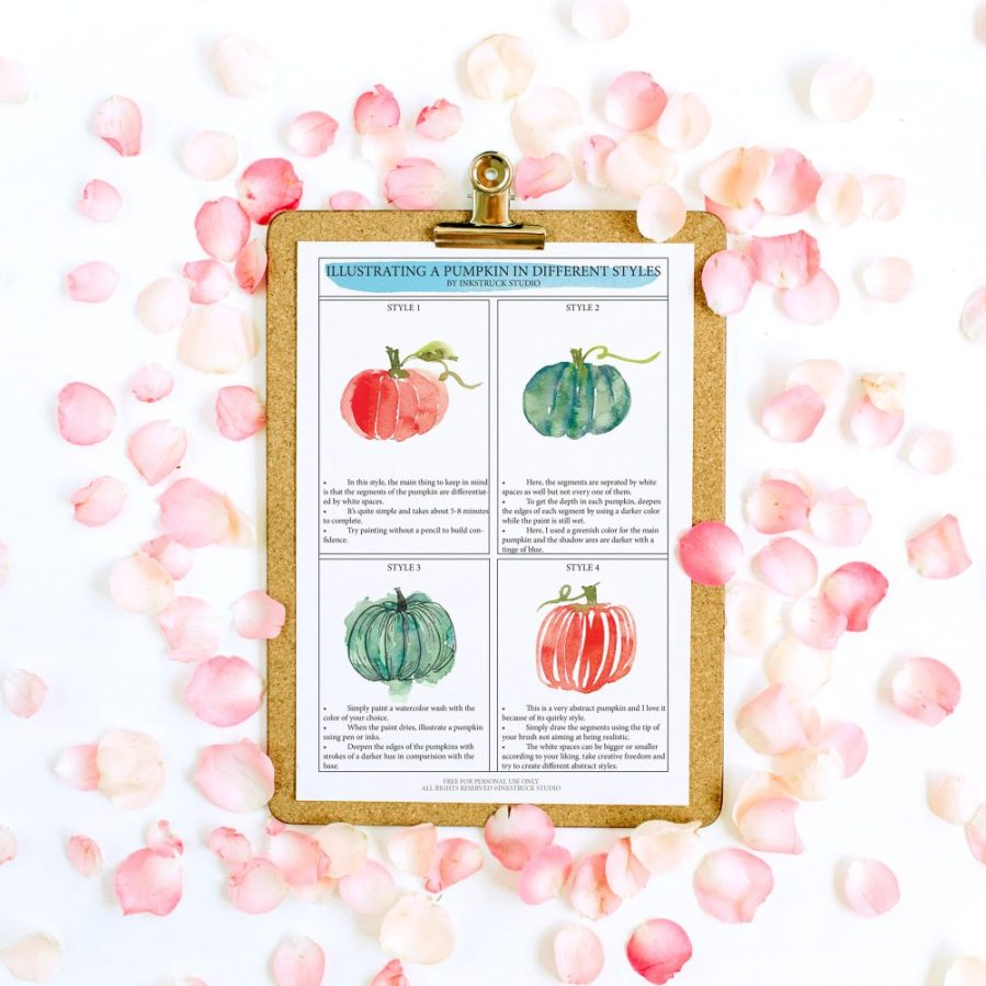 Get exclusive free watercolor worksheets directly to your inboxes every month. It's an easy way to learn a skill. Click to learn more - Inkstruck Studio