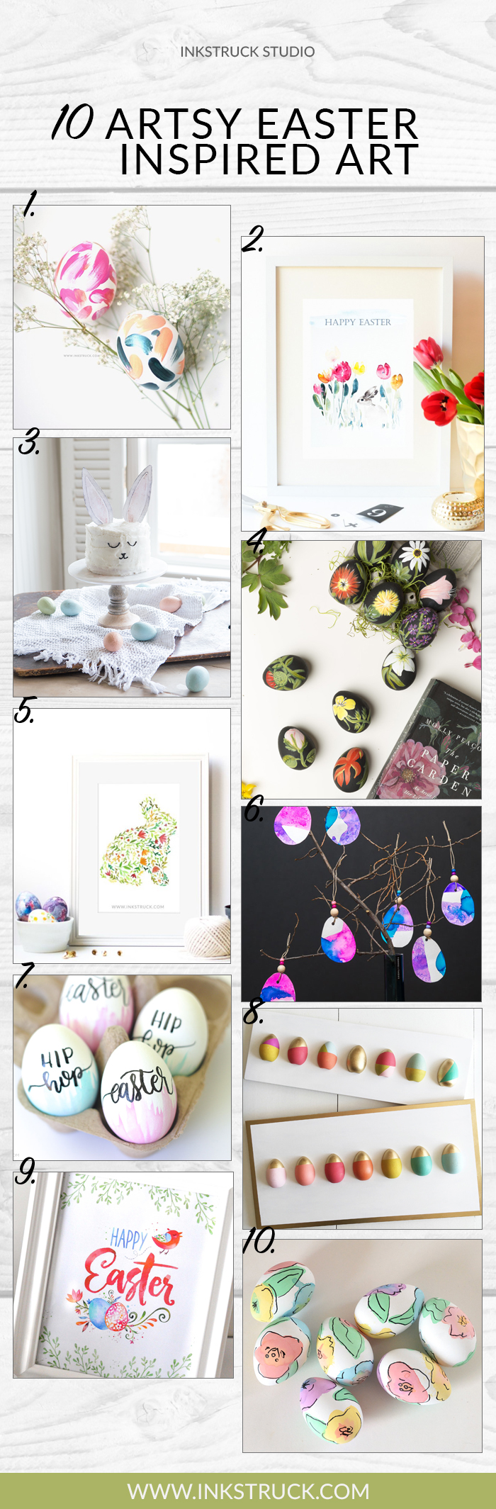 10 Awesome Artsy Easter Inspired Art - Inkstruck Studio