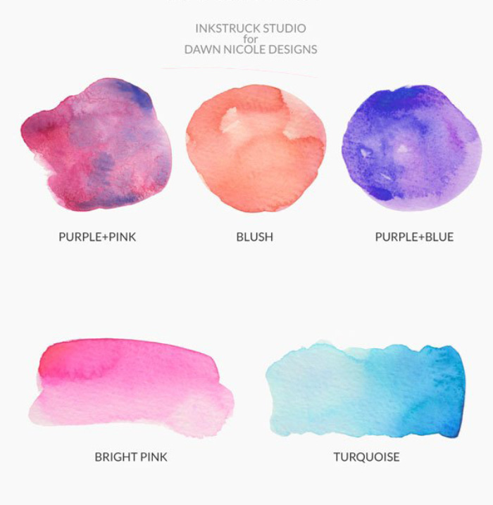 Free watercolor brushstroke graphics