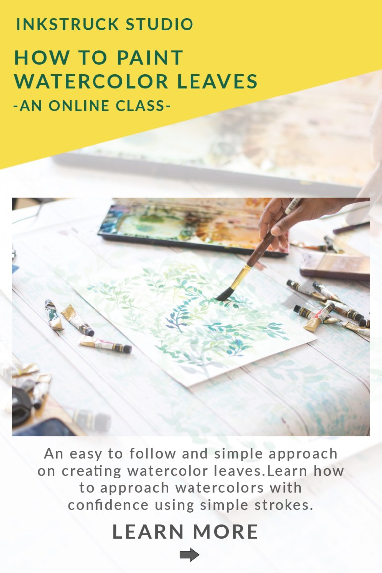 Learn how to paint watercolor leaves in this online class. Using simple strokes, paint watercolor leaves with ease.