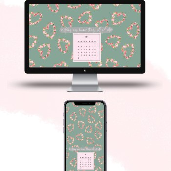 Download free May 2020 watercolor wallpapers for desktops and mobiles.