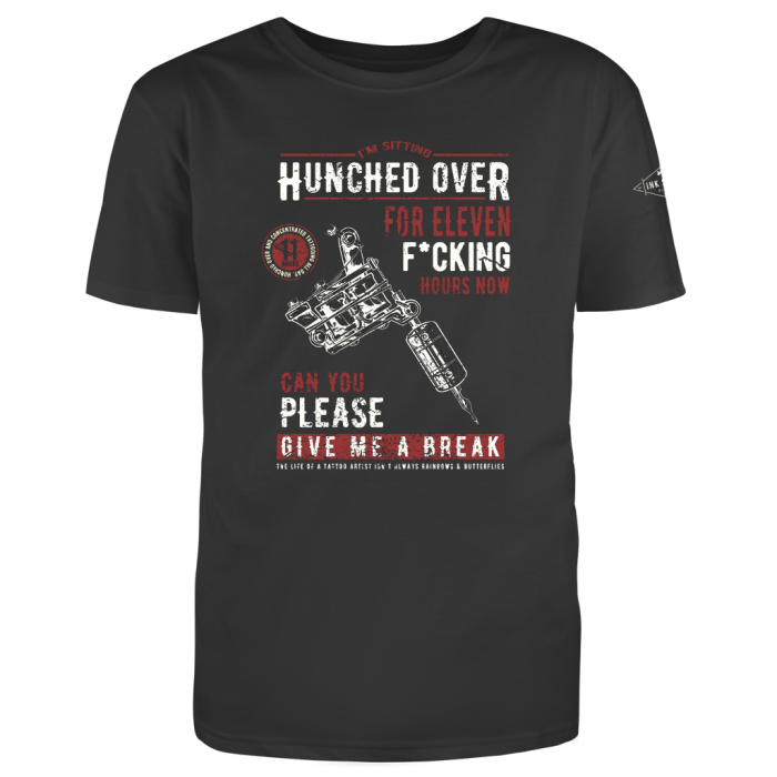 Hunched over t-shirt red