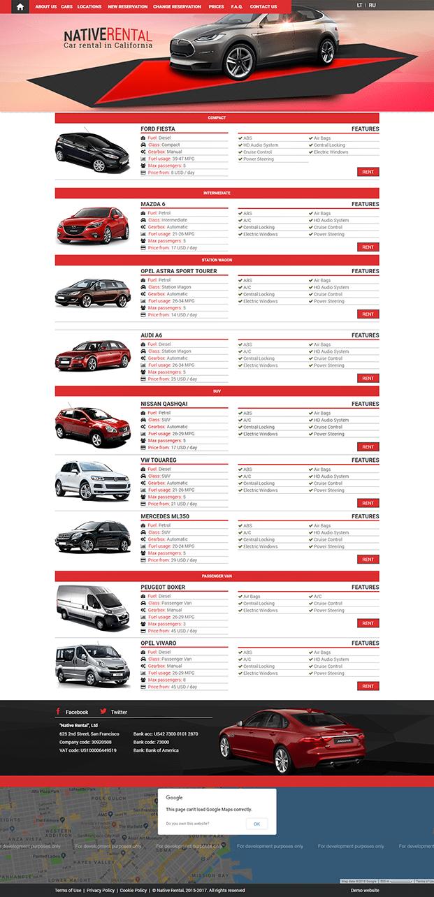 Car Rental System - WordPress Plugin   InkThemes