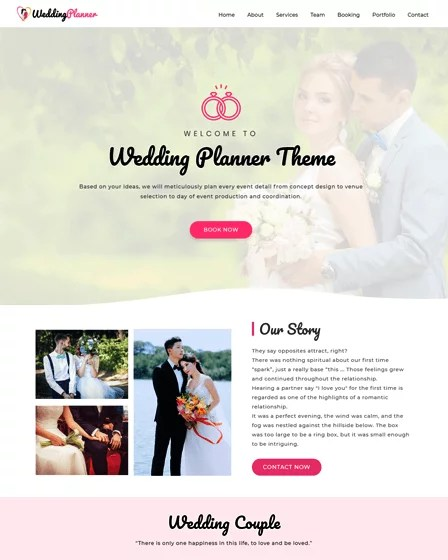 Most couples still send out fancy paper invitations, but even so, it's now popular to direct people to a website for more information and to rsvp. 16 Wedding Website Templates For WordPress Inkthemes