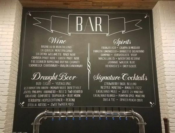 Coffee Shop Chalkboard Menu Signs