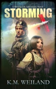 Book Cover: Storming: A Dieselpunk Adventure by K. M. Weiland