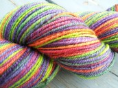 Handspun yarn made with fibre from Into the Whirled