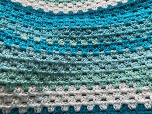 Blue Crocheted Afghan