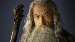 Gandalf the Grey as played by Sir Ian McKellan in The Hobbit and The Lord of the Rings series.