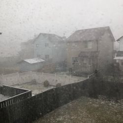 The weather around here is getting downright impulsive. Ten minutes ago we had sun. Then a low-vis  flurry storm rolled in. Hallowe'en is less than a week away. Wacky.