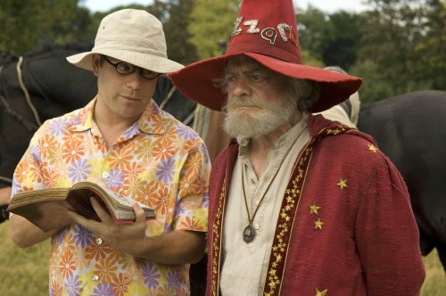 Sean Astin as Twoflower and David Jason as Rincewind in The Colour of Magic