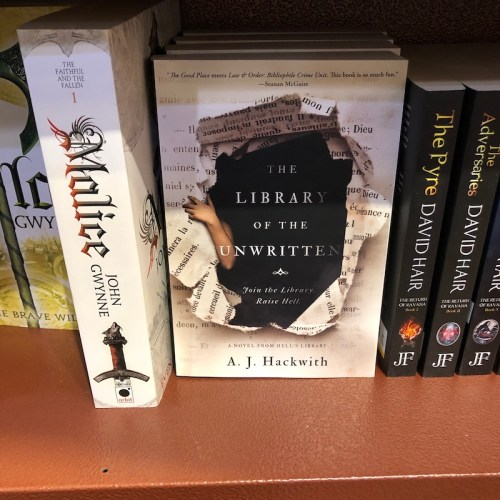 Library of the Unwritten by AJ Hackwith on the shelves at Chapters