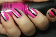 striped nail design and
