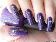 shooting stars nail art ideas