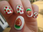 tasty fruit nail art design