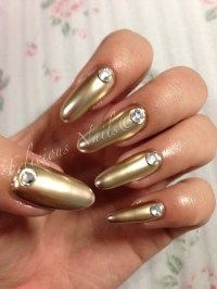 30 Stunning Metallic Nail Art Designs