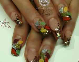 How To Do Autumn Leaves Nail Art 30 Examples Ink Your Nail