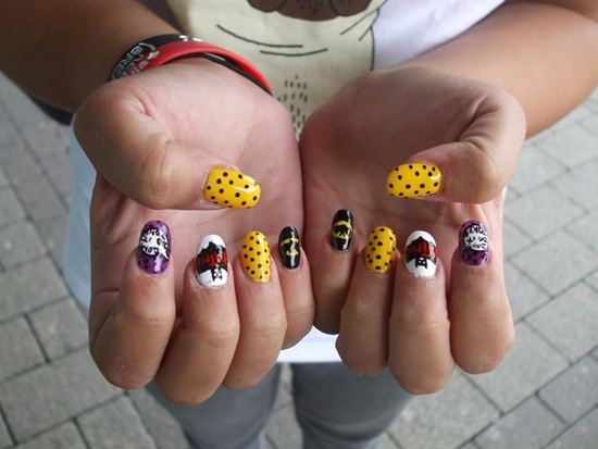 Bat Man Nail Art 33