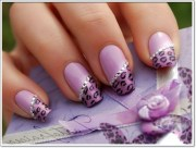 cool purple nail design