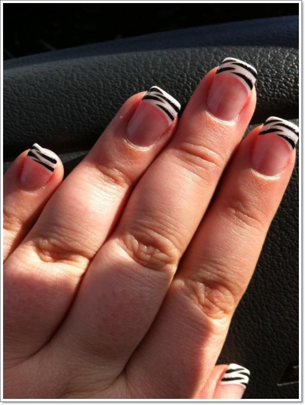 Art Cute Zebra Nails