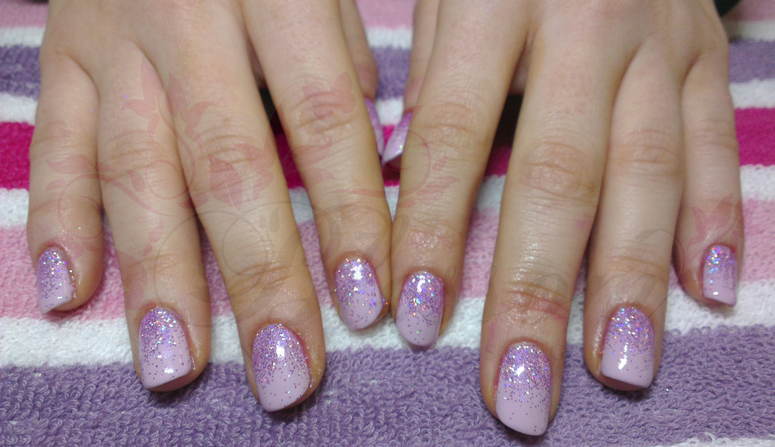 General Amazing Soft Purple Sac Nail Design With