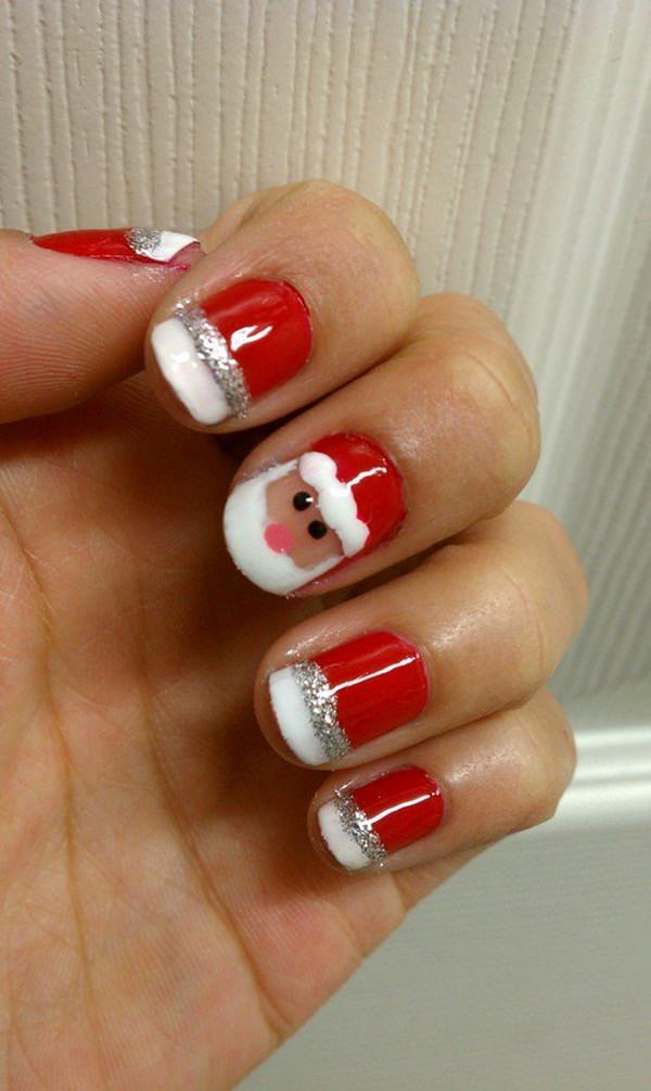 Christmas Candy Nail Art