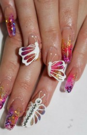 super fresh butterfly nail art