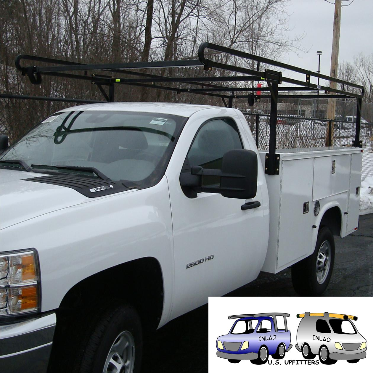 hight resolution of weather guard truck equipment steel service body rack model 1225