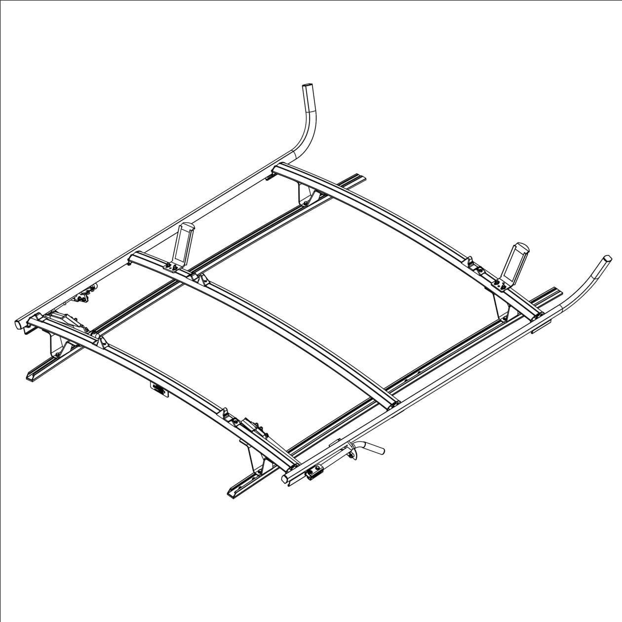 Ranger Design Aluminum Combination Ladder Rack For