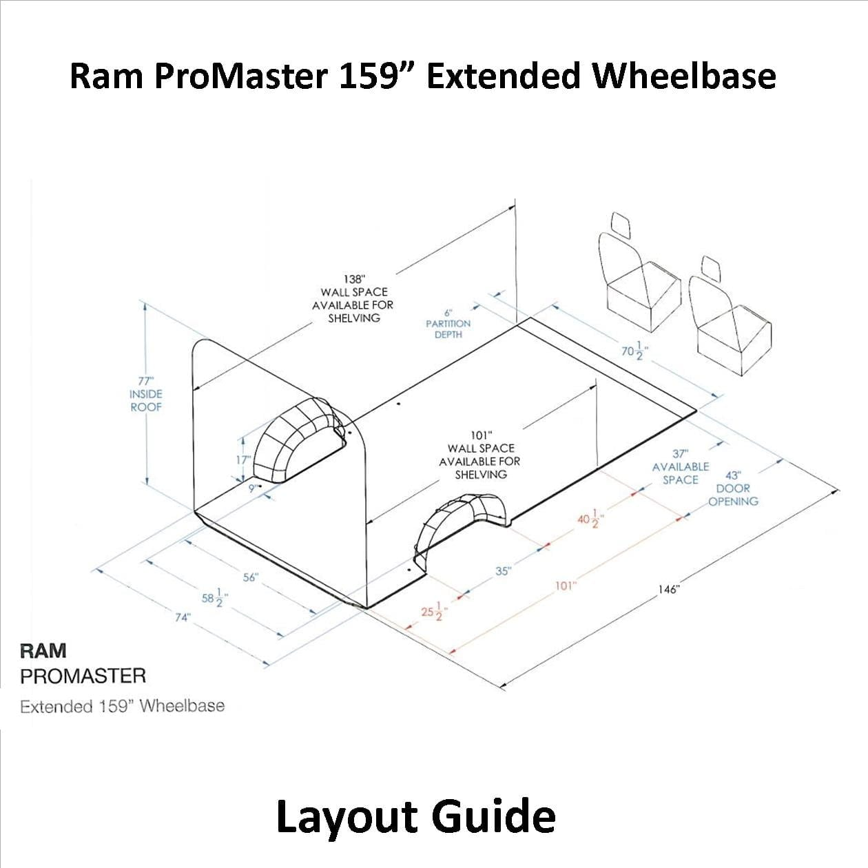Ram Promaster Layout Guide 159 Ex Wb