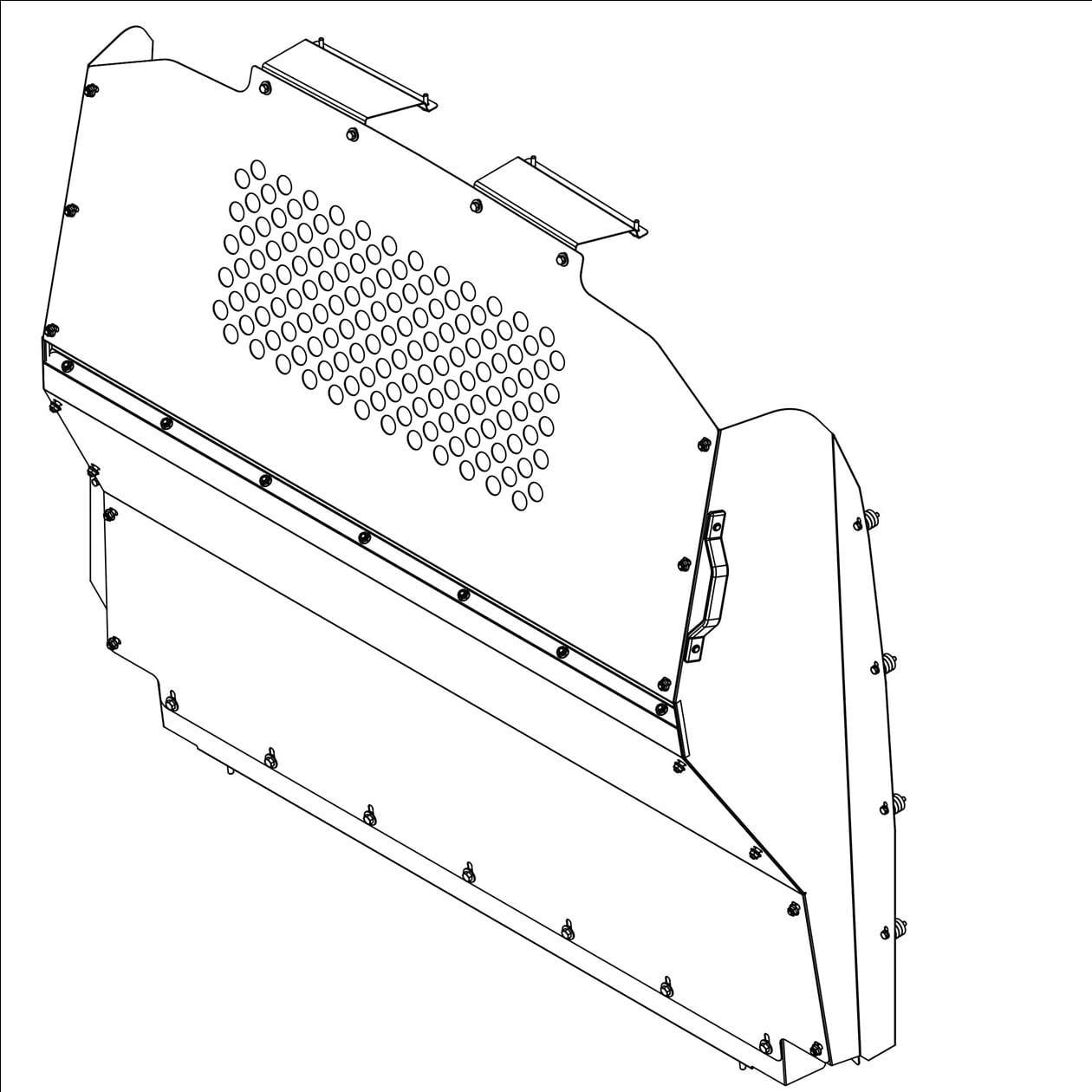 Ranger Design Steel Contoured Safety Partition