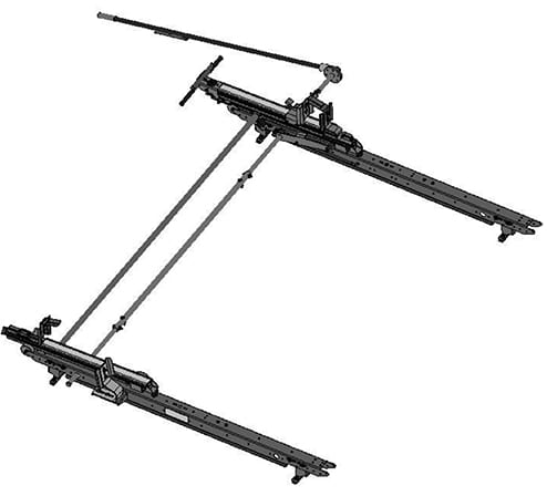 Adrian Steel Single Drop-Down Ladder Rack for Ford Transit